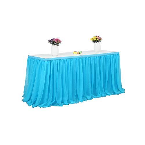 YiyiLai - Party-Tischröcke in Blau, Größe 6ft (1.83m*0.77m)