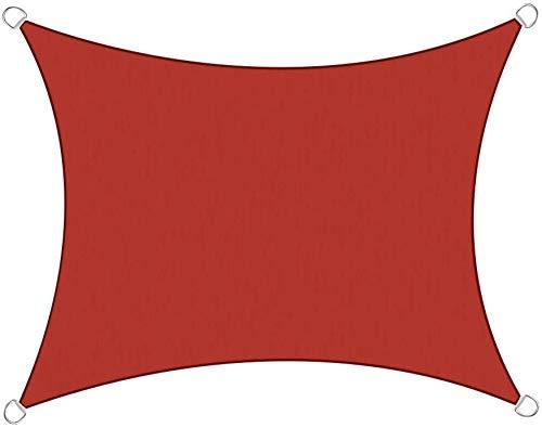 Sonnensegel Sonnenschutzsegel Sonnenschirm Segel Rechteck Garten Patio Yard Party Sonnenschutz Markise Baldachin 98{aae42635b0969960e39f81f1a1258a8a1ad5147eff4129f12e1a7cc02a597fe7} UV-Block,Red-3X4M