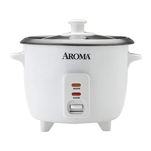 Aroma Housewares Aroma 6-cup (cooked) 1.5 Qt. One Touch Rice Cooker, White (ARC-363NG)