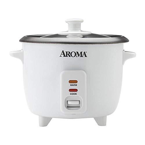 Aroma Housewares ARC-363NG) - Arroz aromática de 6 tazas (cocido), color blanco