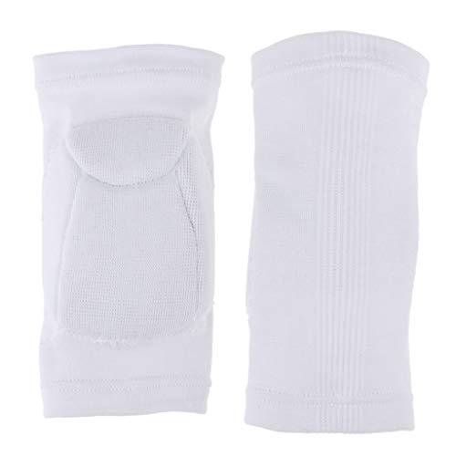 NC 1 Par de Protección Antideslizante para Rodilleras Codos para Tenis Y Baloncesto - Codera Blanca