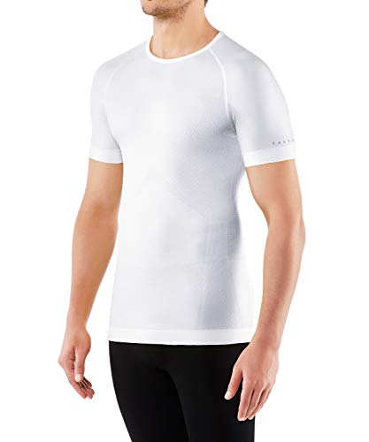 FALKE Herren Kurzarmshirt Cool, Shirt Kurzarm aus Funktionsfaser - atmungsaktiv, 1 Stück, Weiß (White 2860), XL