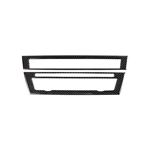 Decorazione in Fibra di Carbonio for BMW Serie 5 F10 2011-2017 Fibra in Carbonio di Controllo CD dell'automobile Pannello Interno Sticker AC Pannello Telaio Uscita Aria Accessori