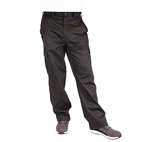 Lee Cooper Mens Classic Workwear Pant Cargo Trouser Black 32W/31L (Regular)