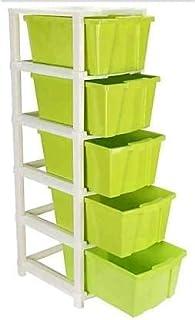 DARSHAN EXIM 5 Layer Foldable Modular Drawer Organizer Multipurpose Drawers Boxes Storage Rack, Extra Large Basket, Plasti...