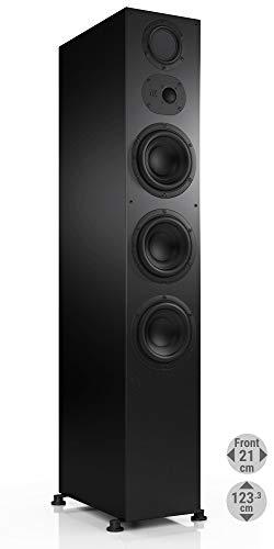 Nubert nuLine 334 Standlautsprecher | Lautsprecher für Musikgenuss | Heimkino & HiFi Qualität auf hohem Niveau | Passive Standbox mit 3 Wege Technik Made in Germany | Standbox Schwarz | 1 Stück