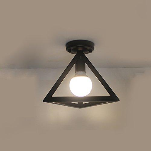 NAUY- American Village Plafonnier Nordic European Corridor Entrée Hall d'entrée Vestiaire Balcon Study Chambre Lampes en fer forgé ( Couleur : Noir )