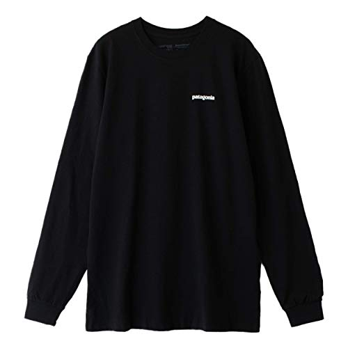 [パタゴニア]Patagonia Men's Long-Sleeved P-6 Logo Responsibili-Tee Tシャツ 長袖 39161 Black (L) [並行輸入品]