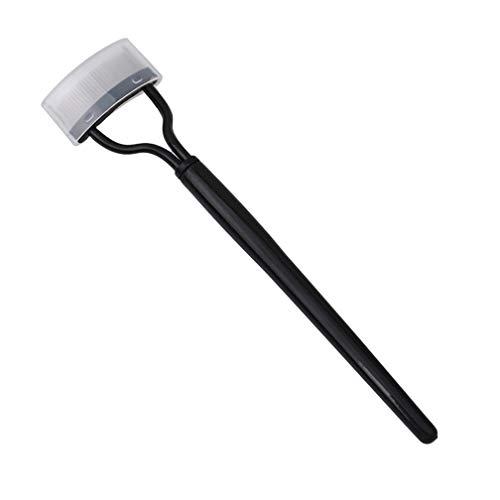 LJSLYJ Wimpernkamm Lash Separator Brush Semi-Arc Stahlnadel Augenbrauekamm Beauty Make-Up-Werkzeug, schwarz