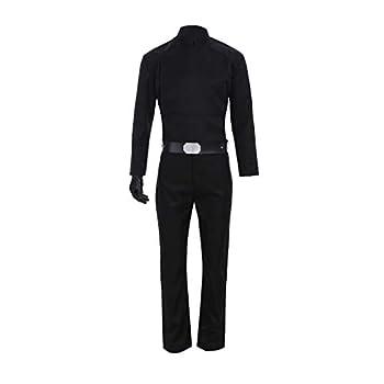 Mens Luke Cosplay Skywalker Costume Black Uniform Jedi Costume Outfits for Halloween  M