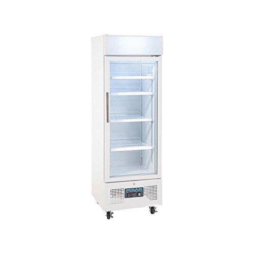 Polar Réfrigérateur à porte vitrée, 228 l, 161 x 53 x 57,5 cm - pour réfrigération commerciale