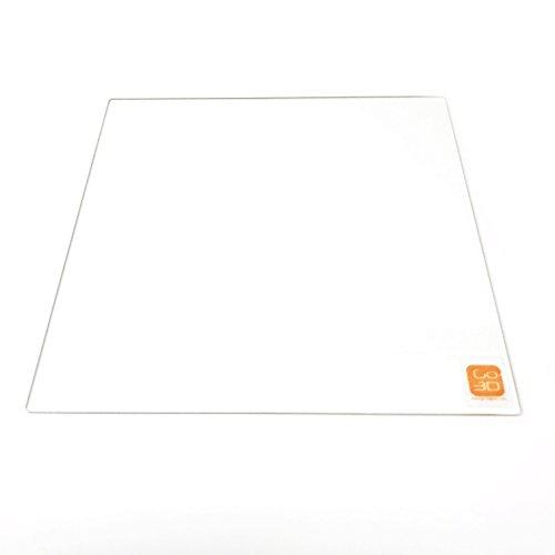 GO-3D Print - Placa de vidrio de borosilicato (260 x 260 mm) con borde pulido plano para impresora 3D Flsun Cube