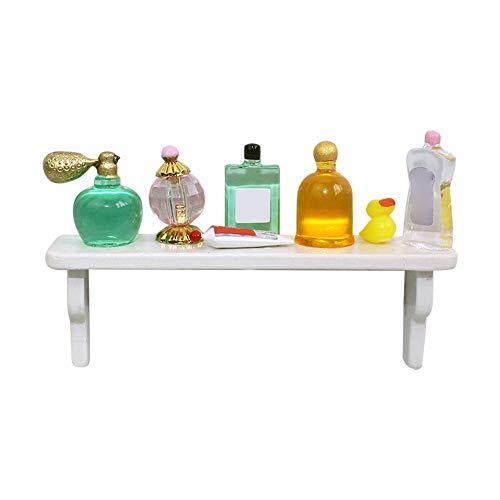 sudalv1971 Simuliertes Miniatur-Parfümregal Szenenmodell Spielzeug Für 1/12 DIY Puppenhaus Zubehör Geschenk Für Kinder B.None