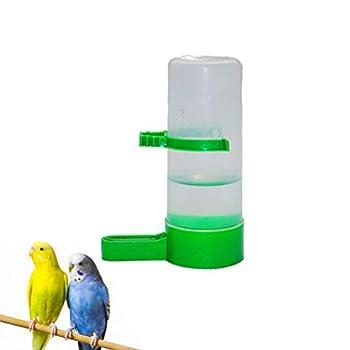Cabilock 5Pcs Automatique Abreuvoir D'eau pour Oiseaux avec Clip en Plastique Cage à Oiseaux Abreuvoir Distributeur Tasse pour Perroquet Perruche Cockatiel (Grand)