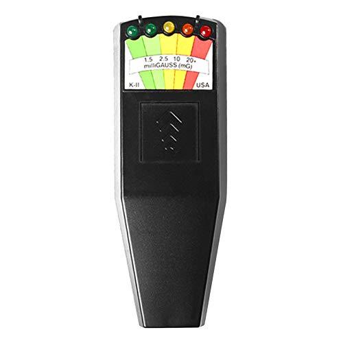 Honeyhouse Medidor EMF, portátil K2 detector de radiación de campo electromagnético Gauss Medidor Detector de radiación portátil EMF Monitor de campo magnético con 5 LED