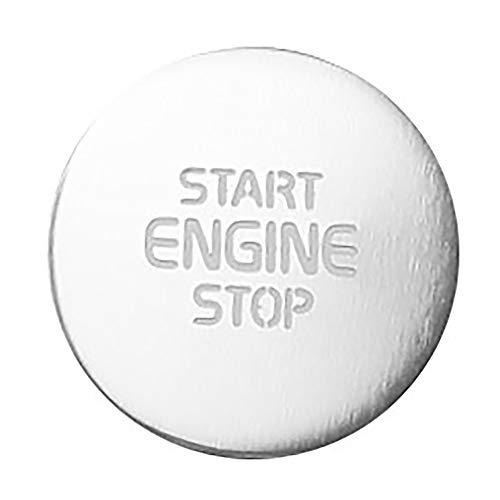 Cuasting Para Xc40 una llave de inicio encendido interruptor decoración etiqueta auto partes accesorios coche 2018 2019 2020 plata