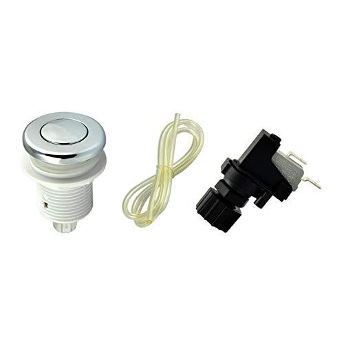 Garbage Disposal Air Switch Spa Bathtub Air Switch Button Kit Chrome Hot Tub Garbage Disposer or Evolution Food Waste Equipment