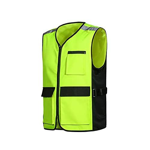Chaleco de seguridad reflectante de alta visibilid Chaleco de jinete reflectante, chaqueta con bolsillo transpirable ajustable engranaje de montar a caballo chalecos de seguridad reflectantes para hom