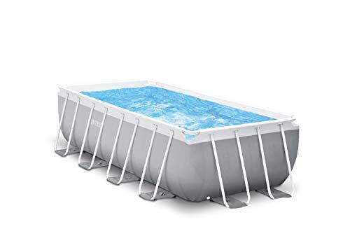 Intex 4m x 2m x 1,22m Prism Frame Rechteckiges Pool Set, Mehrfarbig