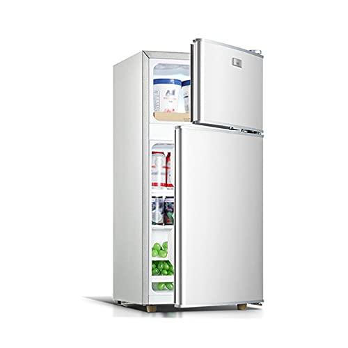 QINGZHUO Frigorífico Pequeño,Refrigerador Independiente,Refrigerador Silencioso Y De Doble Puerta De Bajo Consumo,para Dormitorio O Salón.