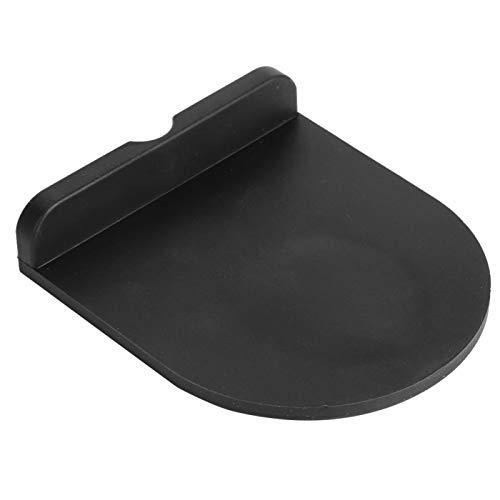 Espesor multifunción, tapete para apisonar café, tapete de silicona para hacer café en polvo, para incluso la mesa de centro más pequeña(Black trumpet)