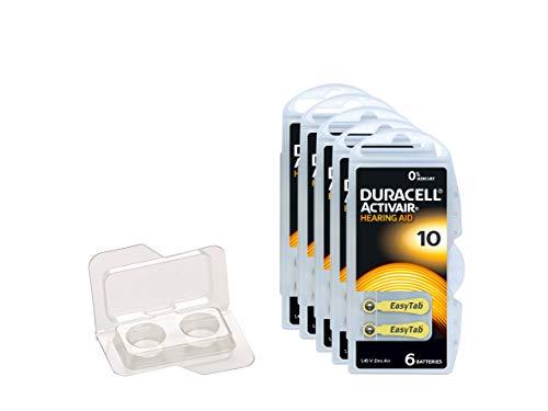 Duracell Easytab/Activair type 10 pour appareils auditifs Zinc Air P10 PR70 zl4, Lot de 30