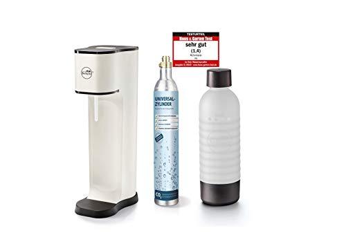 mySodapop Joy Fashion matt white inklusive 1 PET Flasche und 1 CO2-Zylinder für 60L Sprudelwasser Soda Wasseraufbereiter Trinkwassersprudler