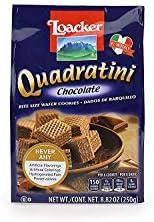 Loacker Quadratini, Chocolate Wafer Cookie, 8.82 Ounce Pack