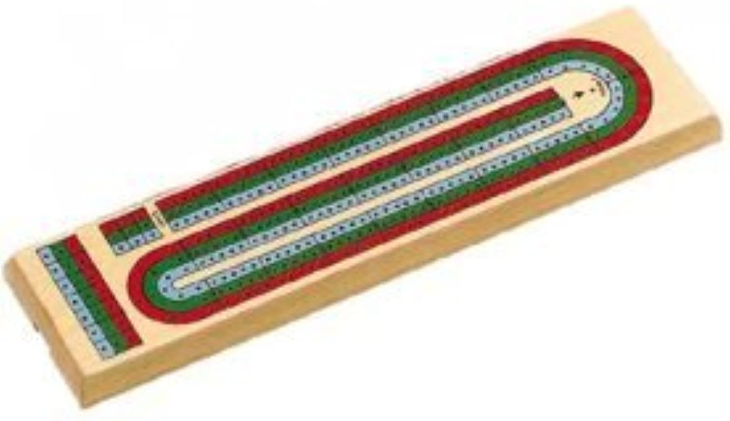 3 color Track Cribbage Board with Storage Compartment, Multicolord by CHH