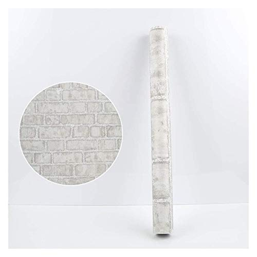 sknonr Selbstklebende Dicke Tapete, Ziegelmuster-Wandaufkleber, geeignet für Restaurantsäbee, wasserdicht und feuchtigkeitsfest, 100x45cm