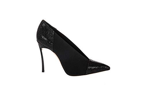 Casadei Damen High Heels mit Glitzer Schwarz Pumps, Schwarz - Schwarz - Größe: 39 EU