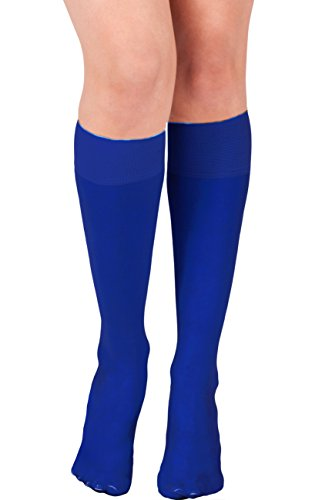 KMystic Womens Trouser Socks Knee High (Royal)