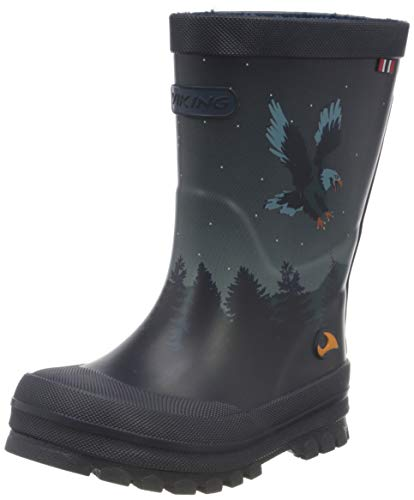 viking Unisex-Kinder Jolly Bat & Eagle Gummistiefel, Blau (Navy/Multi 550), 32 EU
