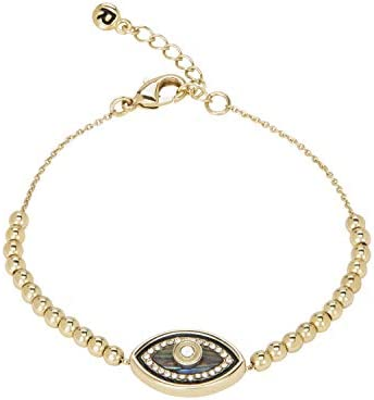RACHEL Rachel Roy Evil Eye Beads Adjustable Gold Chain Bracelet for Women Fashion Jewelry product image