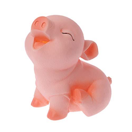 Fewxdsad - Hucha con Forma de Cerdo, Caja de Ahorro, para niños, Coleccionable, Juguete irrompible, decoración del hogar, plástico, 02