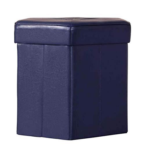 JXJ Taburete otomano con almacenamiento, reposapiés cuadrado, taburete portátil, piel sintética, transpirable, antideslizante, de madera maciza, hexagonal, reposapiés
