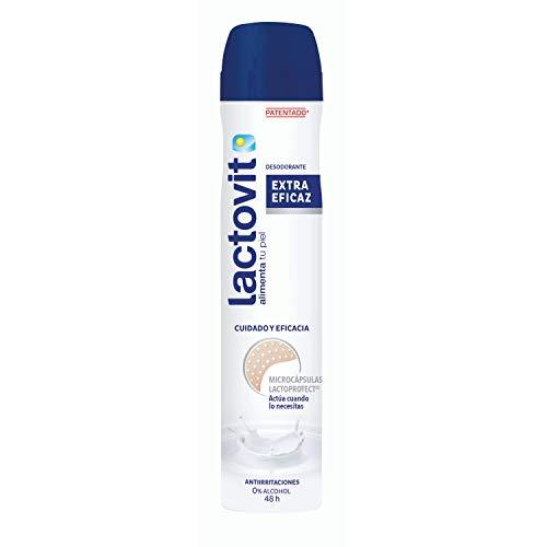Lactovit - Desodorante Extra Eficaz con Microcápsulas Protect, 0% Alcohol, Anti-irritaciones y Eficacia 48H - 200 ml