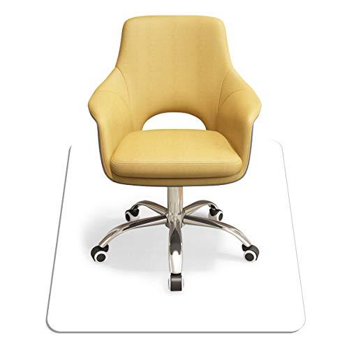COSTWAY Bodenschutzmatte Bürostuhl, Schutzmatte transparent, Unterlegmatte zum Bodenschutz, Bürostuhlunterlage ideal für Laminat, Parkett, Hartböden (120x120cm)