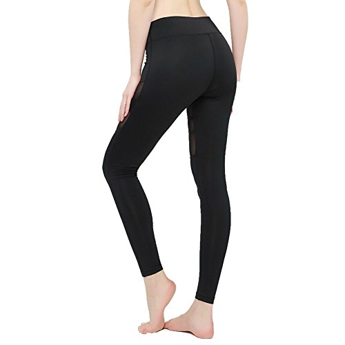 High Waist Yoga Pants, Tummy Control, Workout Pants for Women 4 Way Stretch Yoga Leggings with Pockets (Gray, M)