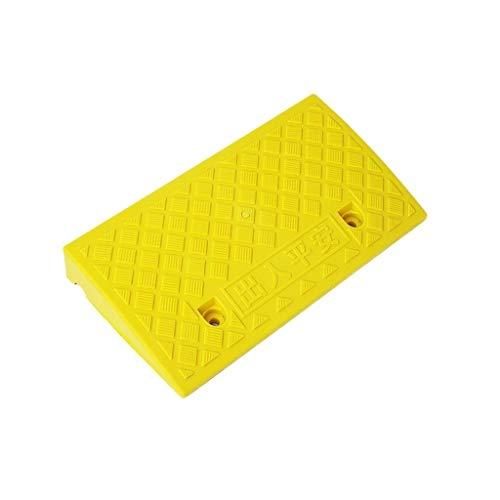 Draussen Anti-Rutsch-Matte, Farbe Kunststoff-Step Mat Kinderwagen-Scooter Curb Ramps Startseite Old Man Behinderte Rollstuhl-Rampen Höhe: 7cm Bordsteinkanten (Color : Yellow, Size : 49 * 27 * 7CM)