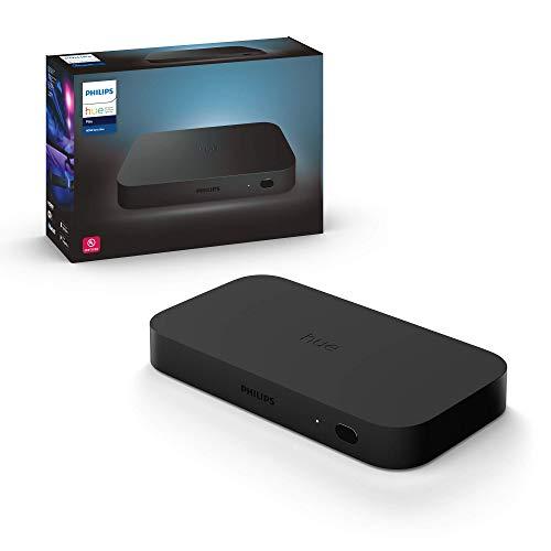 Philips Hue Play HDMI Sync Box caja de sincronización para TV / PC y luces Philips Hue, 4k, hace que la luz cambie con contenido de pantalla, Compatible con Alexa y Google Home