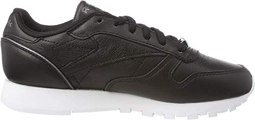 Reebok Damen Classic Leather Hardware Gymnastikschuhe, Schwarz (Blackwhiterose Gold), 39 EU