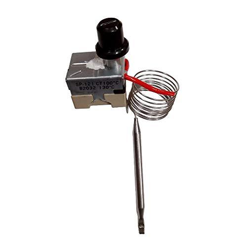 Thermostat Sicherheit für Pelletofen Kapillare 1,5mt 90110Grad manuell Aufrüstung