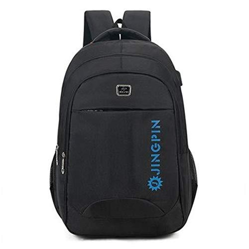 Linshenyoulu Unisex-grote capaciteit stijlvolle laptoptas schooltas studenten rugzak met USB-aansluiting geschikt voor basis- en middenscholen.