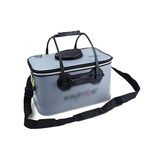 LKYBOA Outdoor Multifunktionale Faltbare Eimer Angeln Eimer Tasche Aufbewahrungsbox Angelgerät Box Aufbewahrungsbox