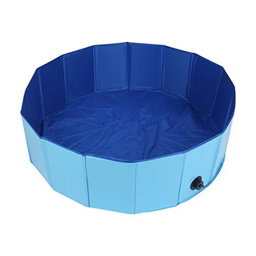 YORKING 100 * 30cm Haustier-Schwimmbaddog-Pool Faltbarer Hundepooldog-Badewanne Tragbares Planschbecken Faltbarer Hundekatzen-Badewanne Waschwanne Wasserteich-Schwimmbad
