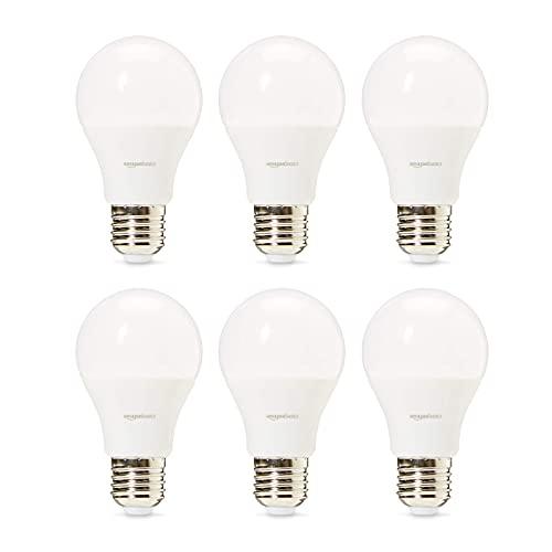 Amazon Basics Professional Lot de 6 ampoules LED Culot Edison à vis E27 Équivaut à 40W Blanc froid