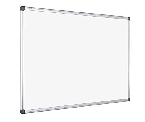 Bi-Office Maya whiteboard - melamine, met aluminium frame en pennenhouder 90x60 cm