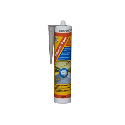 Sikasil Pool–Silikon-Dichtstoff Spezialdichtung für Pool, grau, 130877