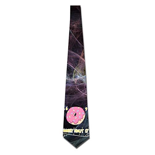 Voxpkrs Men's Printed Floral Neck Tie Donut Worry Abort It Elegant